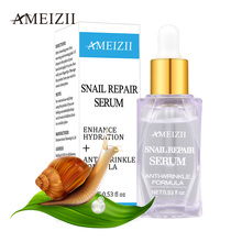 Ameizii Snail Repair Serum Pure Hyaluronic Acid Skin Essence Firming Anti Wrinkle Whitening Moisturizier Facial Treatment