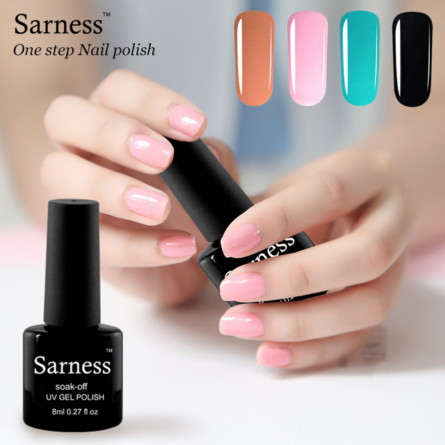 Sarness Professional Nail Art Factory New Product One Step Color Gel Polish Sunlight 3 In