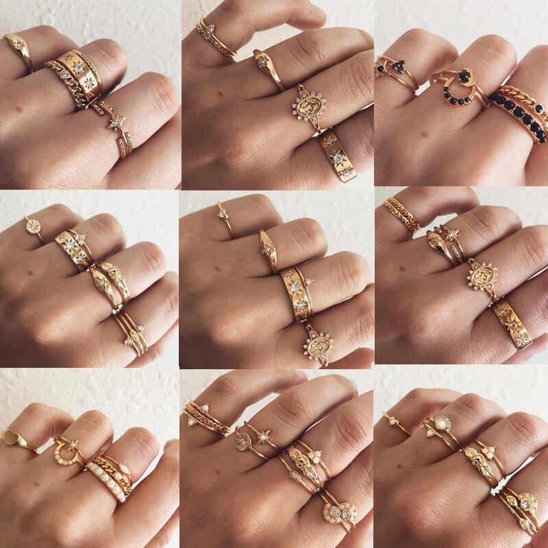 Vintage Style Women Tiny Crystal Gold Heart Round Bracelet Bangle Chain Jewelery