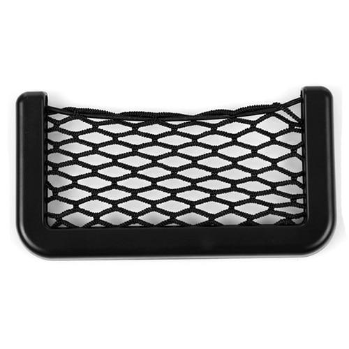 organizador coche Universal Car Seat Side Back Storage car accessories Net Bag Phone Holder Pocket Organizer Black  1