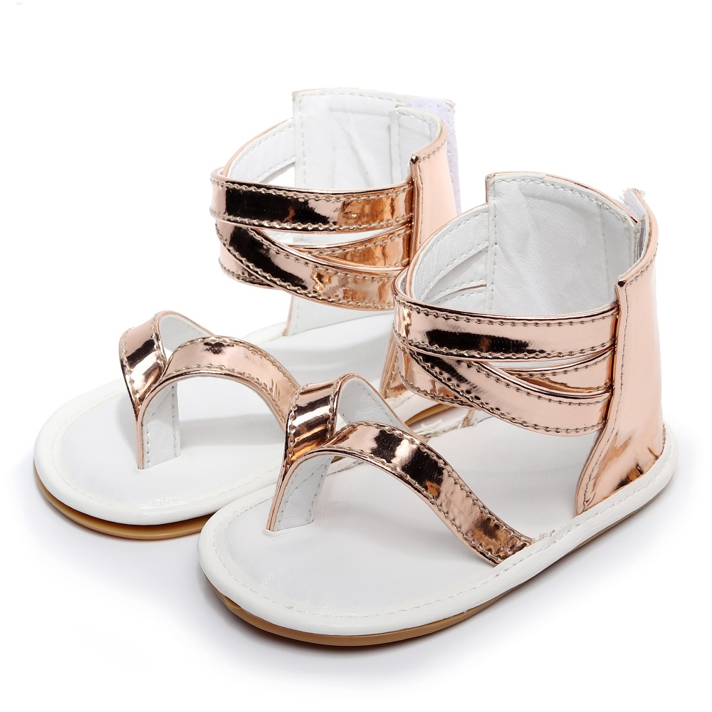 2019 Baby Girl Shoes Summer New T style PU Leather Hard Sole Toddler Infant Baby Girl Sandals Baby Anti-slip Moccasins 0-24M