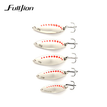 Fulljion 1pcs Fishing Lures Metal Spinner Spoon Fishing Lure Hard Baits Sequins Noise Paillette with Treble Hook Tackle