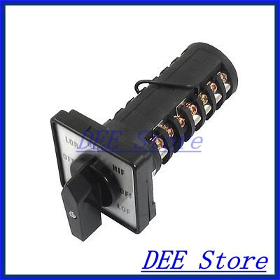 600V 16A Locking 27 Screw Terminals 8 Position Cam Combination Changeover Switch ith 20a 8 screw terminals rotary combination cam switch