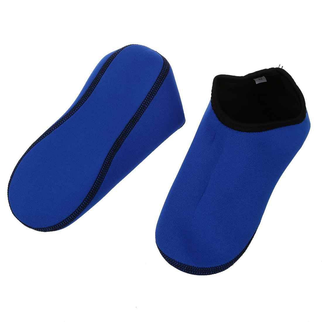 2.5mm Neopren Su Sporları Yüzme Cilt Scuba Dalış Sörf Çorap Dalış Mavi