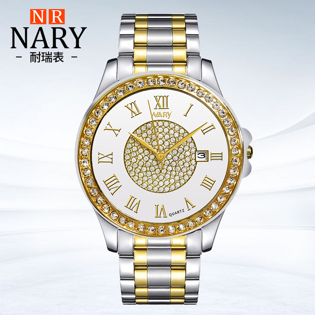 Favoloso Nary moda d'oro orologio al quarzo uomini donne orologi di marca  JQ93