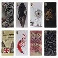 Soft Case sFor Coque Sony M4 Glossy Soft TPU Case Back Cover Owl Phone Case for Sony Xperia M4 Aqua Dual E2303 E2333 E2353