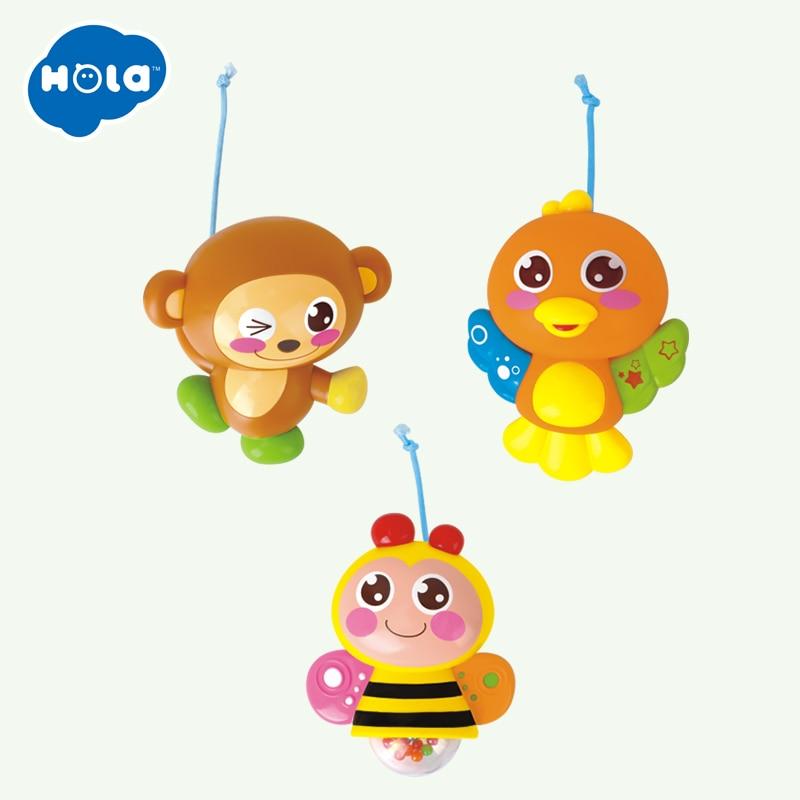 Bébé rotation musicale Jungle bébé Mobile pépinière lit/berceau Mobile Multi fonction avec lumières et boîte à musique enfants jouent dessin animé jouet - 4