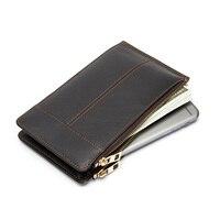 本革名刺ホルダー長財布女性のクレジットカードバッグ多機能携帯電話ポーチ男性