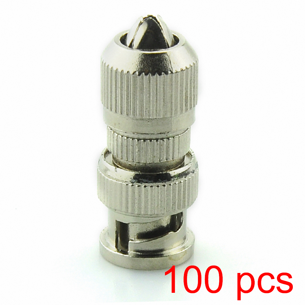100x BNC Male To Cable Connector Coaxial Adapter Coupler For CCTV Camera