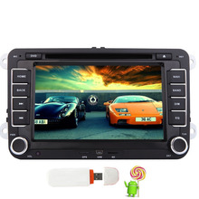Car Stereo Quad-core Android 5.1 Headunit in Dash 2DIN Car DVD Player GPS Navigation Map Stereo For Volkswagen Golf HD Autoradio