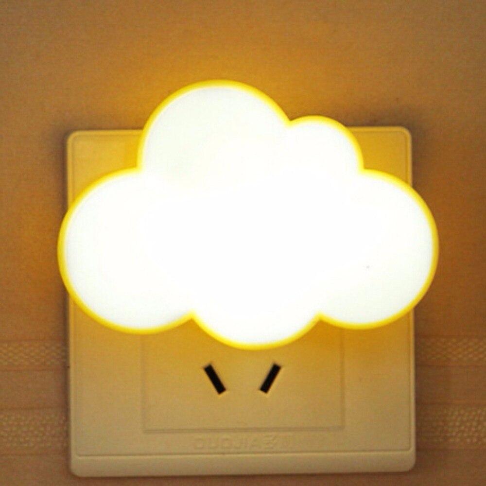 Sensor Led Night Lights Plug-in LED Cloud or Clover Dream Wall Bed Lamp for Baby Nursery Hallway (US Plug)