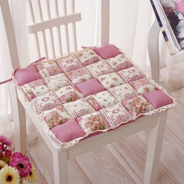mignon rustique rose plaid coussin volants dentelle coussin chaise de bureau tapis 2 pcs lot. Black Bedroom Furniture Sets. Home Design Ideas