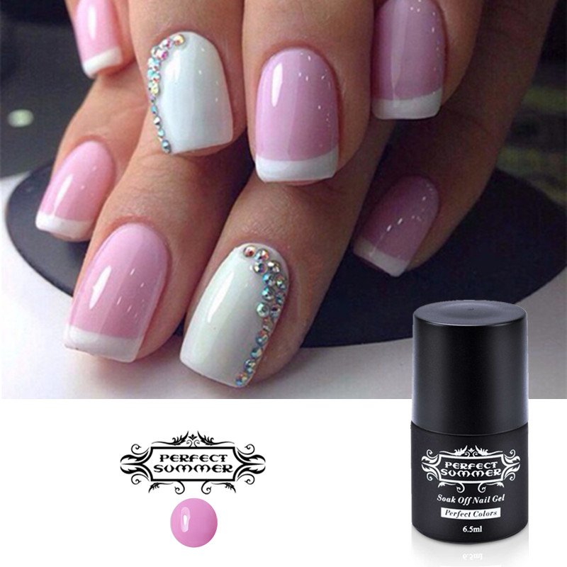 Perfect Summer Nail Gel Polish French Manicure DIY Nail Art Gel 6.5 ...