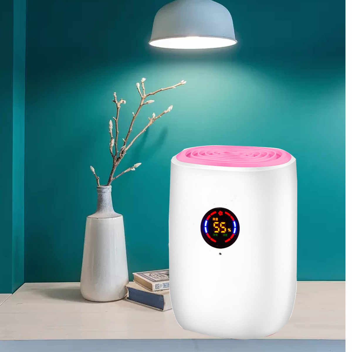 800ml חשמלי מיני נייד אוויר מסיר לחות בבית LED תצוגת חשמלי חדר מסיר לחות מטהר מכונה 100-240V