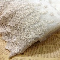90cm Wide 1yards Lot Free Shipping Top Grade Gold Thread Embroidered Lace Trim Gold Lace Fabric