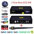 Freesat V8 Ангел Рецепторов Спутниковый Ресивер Android 4.4 Kodi TV Box с Cccam бесплатная клайн 1 год для Поддержки IPTV DVB-S2 T2/C