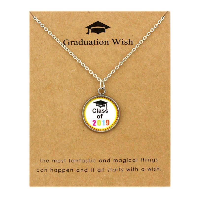 c87ff03d7506f Class Senior 2019 2020 Graduation Pendants Necklaces Square College ...