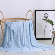 LYN&GY Nordic Style Plaids Casual Knitted Blankets Tassel koc narzuta 115*125cm for Beds Sofa Cover Home Decoration