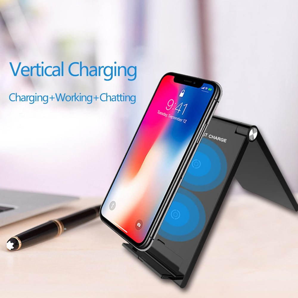 QI Wireless Charger Wireless Charger iPhone X 8 8 Plus Y Tech Wireless Charging Pad Plus S7 Edge S6 Edge-QI Wireless Charger Gold Wireless Charging Station Samsung Galaxy S9 S8