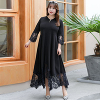 3XL 9XL Large size Women Lace Dress Summer Spring Casual Plus Size 2019 Dress 7XL 8XL Office Lady Elegant Evening Party Vestidos