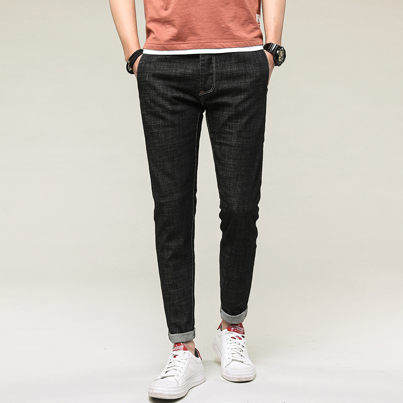 Spring Autumn Jeans Men Brand Clothing High Quality Slim Male Casual Pants Quality Cotton Denim Trousers For Men