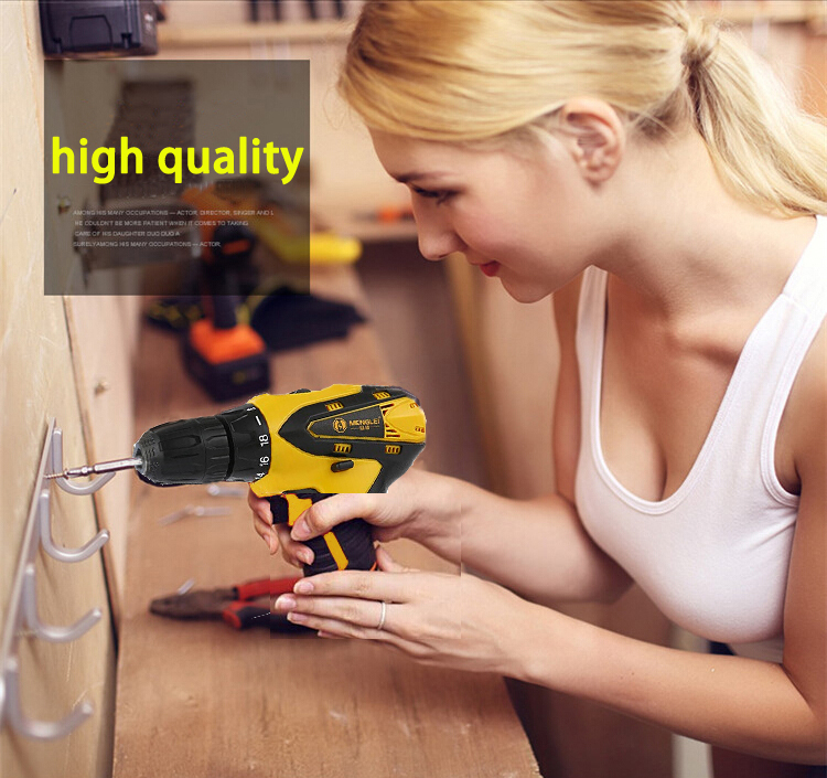 12V Electric Drill Cordless Screwdriver Rechargeable Parafusadeira Furadeira Battery Electric Screwdriver Power Tools