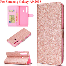 Блестящие модные бумажник чехол для samsung Galaxy A9 со смотровым окошком с отделением для фото карман сумка samsung A9 GalaxyA9 чехол Fundas