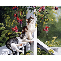 Framed Pictures Diy Digital Hand Painted Canvas Oil Paintings By Numbers Home Decoration Unique Craft Paint