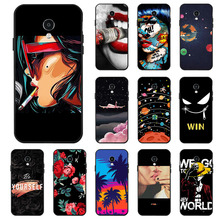 Ojeleye Fashion Black Silicon Case For Meizu Meilan 5S Cases Anti-knock Phone Cover M5s M612Q Covers