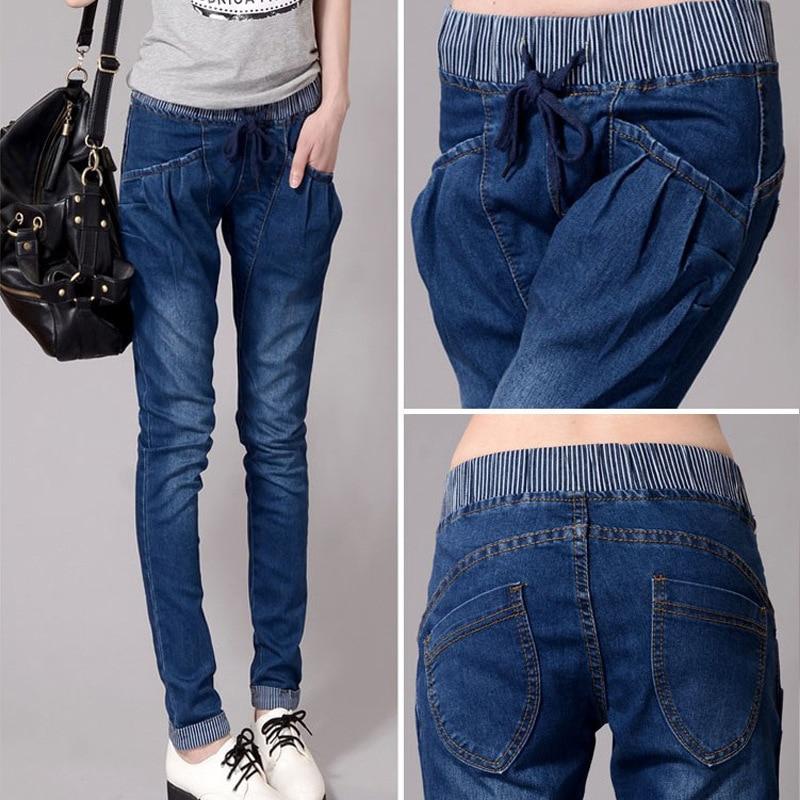 New Arrive Women Jeans 5XL High Waist Elastic Style 4xl Denim Material Make Shape Look Skinny Add Fertilizer Increased jeans