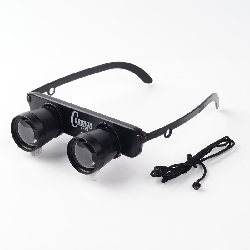 1Pcs High Quality Portable Fishing Glassed Plastic Telescope Magnifier Binoculars Black Magnifier Glasses For Outdoor Fishing