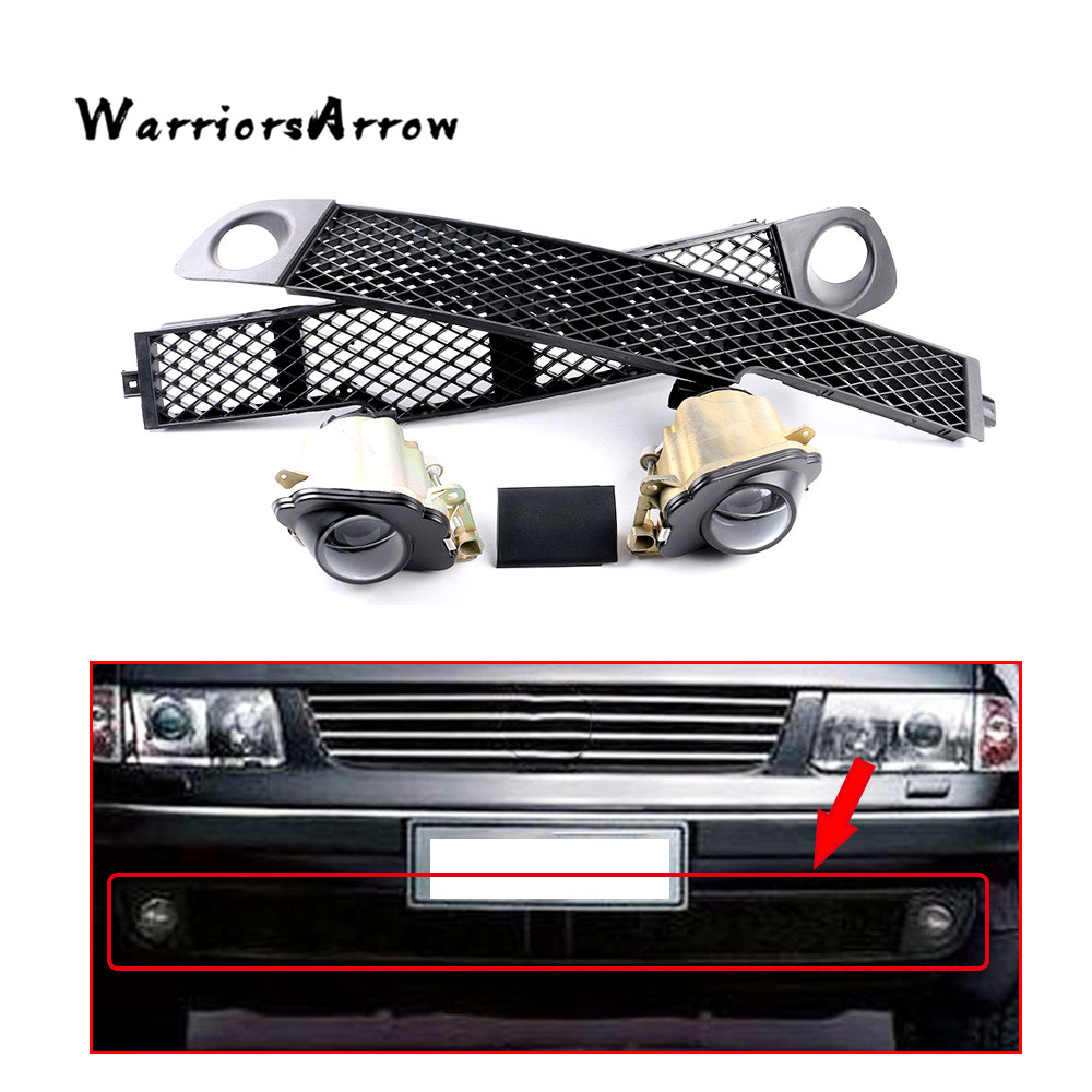 x5 Set Front Fog Light Lamp Bumper Grille Left Middle Right Trim Cover For VW 1997