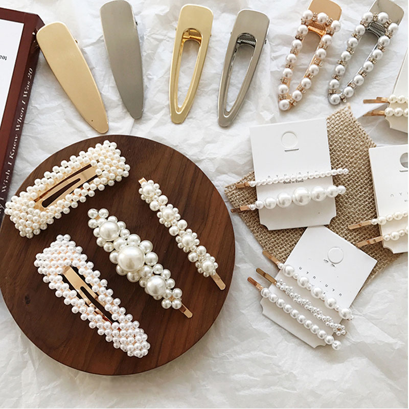 Korea Pearl Barrettes with Bowknot for Women Ladies Elegant Jewelry Hairgrips Valentine 39 s Day Hair Pins Hair Accessories ON SALE in Women 39 s Hair Accessories from Apparel Accessories
