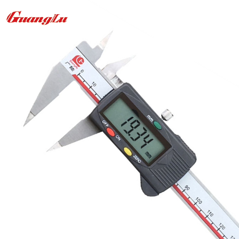ФОТО GUANGLU Pointed Digital Caliper 0-150mm/6'' 0.01mm/inch Electronic Stainless Steel Vernier Calipers Measuring Tools