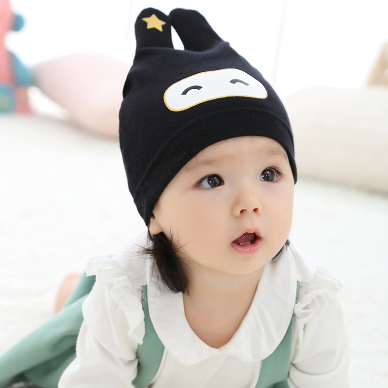 2018 new arrival baby skullies 3-18months baby beanies boy girl ears hat cute baby cap wholesale baby hats