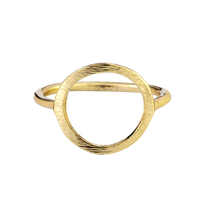 Classic Sparkling Hollow Out Hoop Ring Women Men's Jewelry Minimalism Karma Circle Ring Sister Engagement Gifts Anillos Mujer