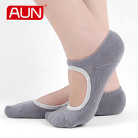 Women No Show With Hole Socks Deodorant With Non Slip Silica Gel Soft 3 Pairs Solid