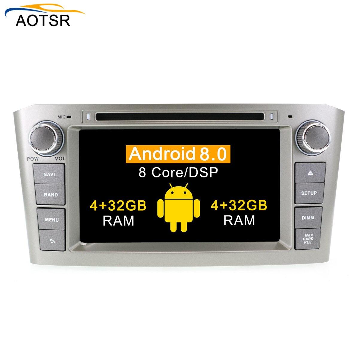 Android 9,0 Auto-DVD-Stereo Multimedia Head unit Für Toyota Avensis 2002-2008 Auto PC Radio GPS Navigation Video audio 4G RAM BT