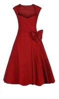 Vintage Retro 50s Dress Rock N Roll Party Xxxl Red Royal Blue Black Dresses Robe Femme