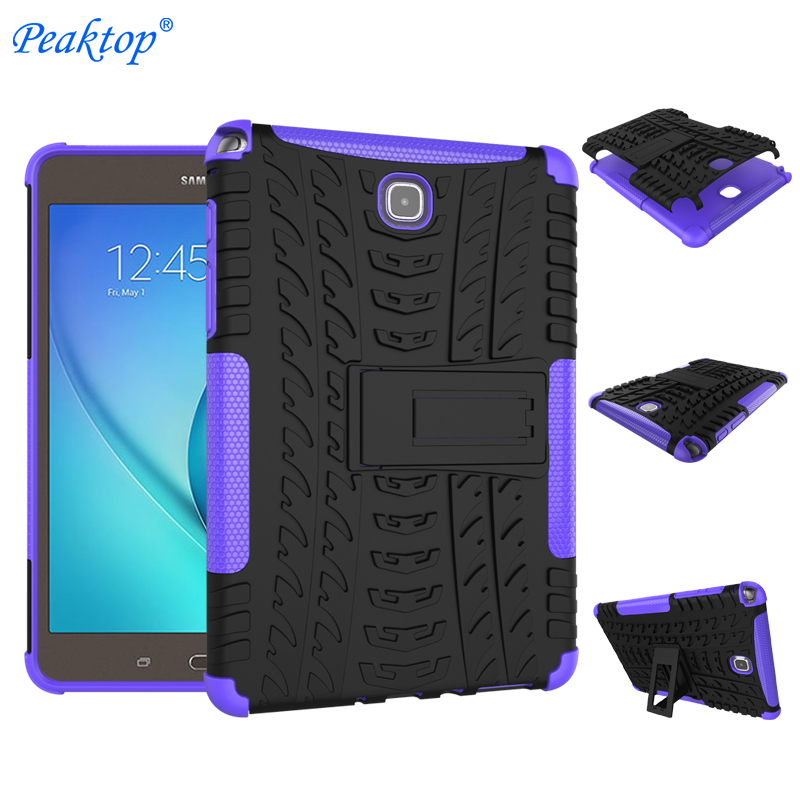 "For <font><b>Samsung</b></font> Galaxy <font><b>Tab</b></font> <font><b>A</b></font> 8.0 SM <font><b>T350</b></font> T355 P350 P355 8"" Tablet Case Cover Silicone TPU+PC Kickstand Dual Armor Back Cover Cas image"