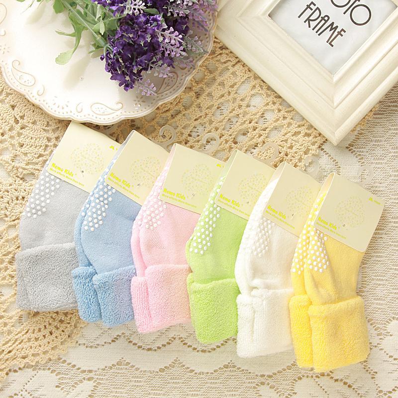 0-3 Jahre Alte Baumwolle Baby Socken Herbst Und Winter Dicke Terry Baby Socken Einfarbige Socken Für Kinder Kinder Rutschfeste Ctws0018