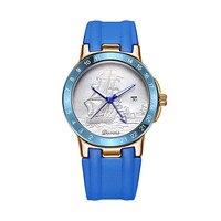 Новый гладко часы Четыре иглы календарь часы мужской Водонепроницаемый кварцевые часы Для мужчин модные часы лучший бренд роскошных челов