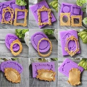 Image 1 - Moldes bonitos do bolo do silicone da forma do quadro de aouke, bakeware diy do fondant decoram