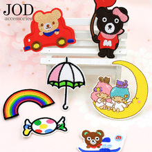 JOD Chlidren Clothes Patches Ironing Thermo Adhesive Applications Clothing Sewing Embroidery Applique Cloth Stickers Iron On
