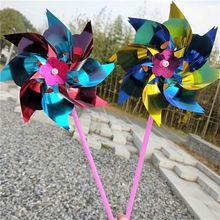 20 PCS Lawn Pinwheels, Party Pinwheels Windmill Rainbow Pinwheel DIY Pinwheels Set for Kids Toy Garden Lawn Decor