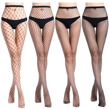 cd767bf77fb46 2019 fashion Women's Long Sexy Fishnet Lingerie Skin Thigh High Stocking  Fish Net Pantyhose Mesh Stockings