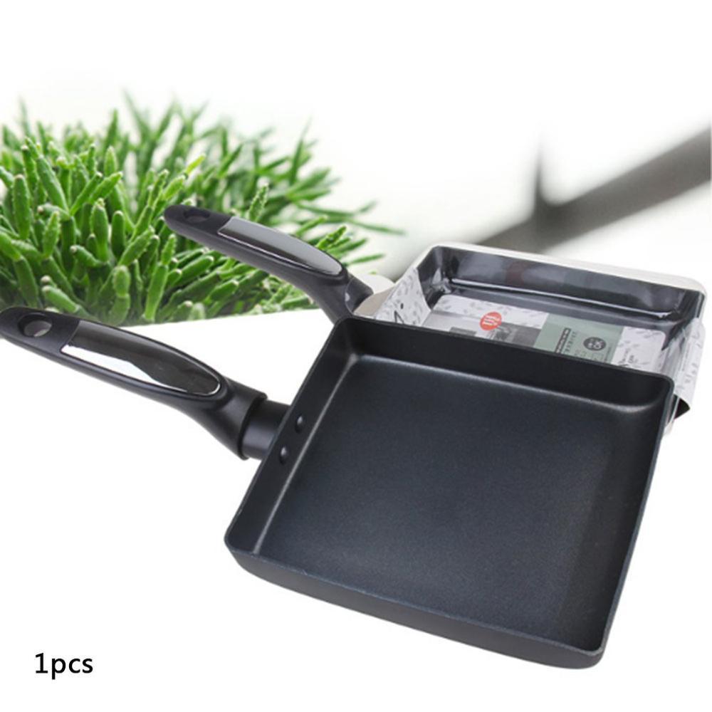 Japanese Style Jade Burnt Pan Pan Kitchen Multipurpose Square Fry Pan Mini Nonstick Portable Durable