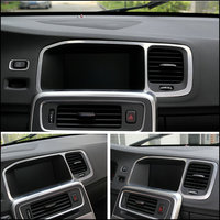 Car Styling Special Car Console Navigation Decorative Frame Cover Trim Stainless Steel Strip 3D Sticker For