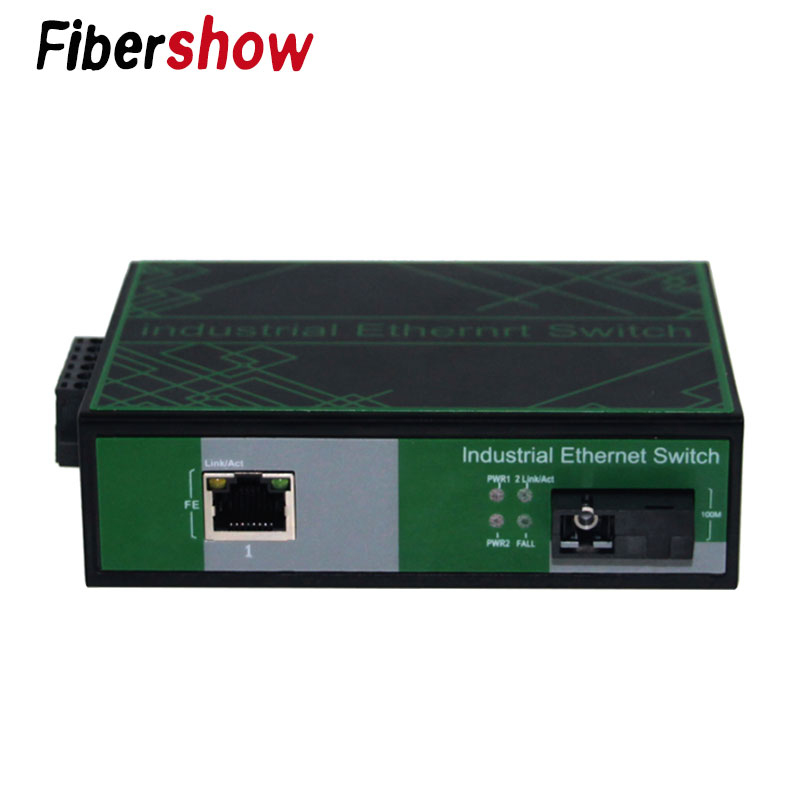 Industrial Ethernet Network Switch 10/100M Signal Strengthen DIN Rail Type Media Converter