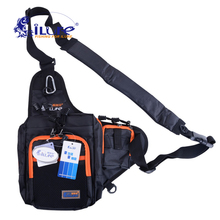 ilure waterproof canvas bag multi-purpose external bag fishing roll lure bags pesca fishing tackle tools green / orange / black